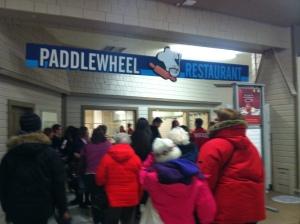 Lineup at the Paddlewheel!