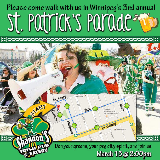 St Patricks Day Parade Downtown Winnipeg 2014