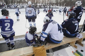Winnipeg Jets Outdoor practice at the Forks