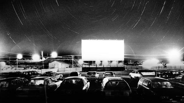 Obviously, this is not the actual drive-in. Ours will have tall buildings around it. And also colour.